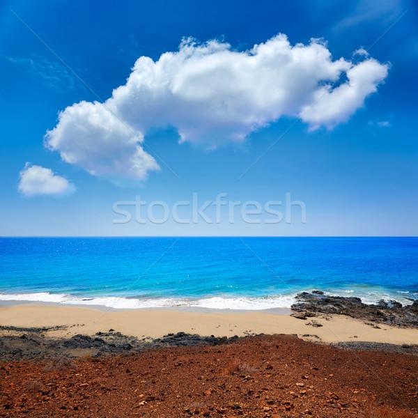 Praia canárias Espanha céu paisagem mar Foto stock © lunamarina