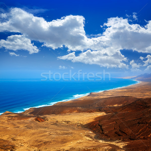 Jandia west beaches aerial of Fuerteventura Stock photo © lunamarina