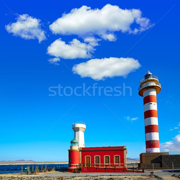 Toston lighthouse in El Cotillo at Fuerteventura Stock photo © lunamarina