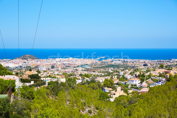 Denia village high view from Montgo Spain Stock photo © lunamarina