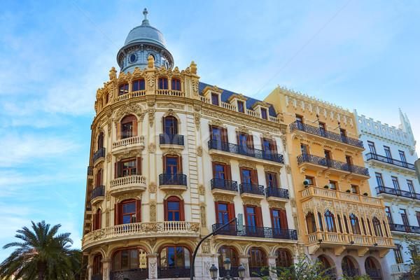 Valencia tér épület Spanyolország terv utazás Stock fotó © lunamarina