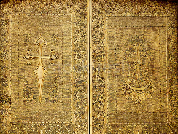 教会 ドア 真鍮 夏 海 ストックフォト © lunamarina