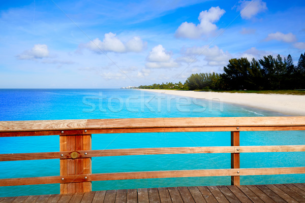 Foto stock: Nápoles · pier · praia · Flórida · EUA