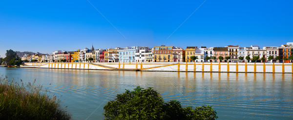 Triana barrio of Seville panoramic Andalusia Stock photo © lunamarina