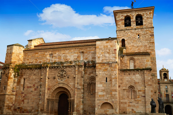 Zamora San Juan church in Plaza Mayor Spain Stock photo © lunamarina