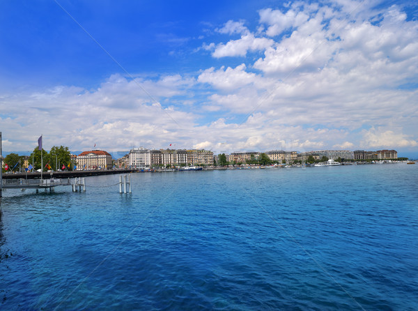Geneva Geneve at Leman lake in Switzerland Stock photo © lunamarina