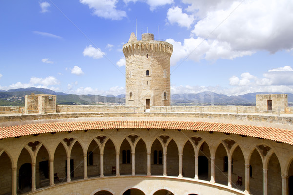 Burg Turm Wand Brücke Architektur Stock foto © lunamarina