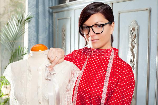 Mannequin travail maison professionnels mode designer Photo stock © lunamarina