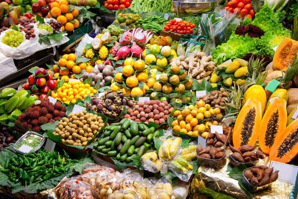 Барселона рынке плодов отображения всемирный оранжевый Сток-фото © lunamarina
