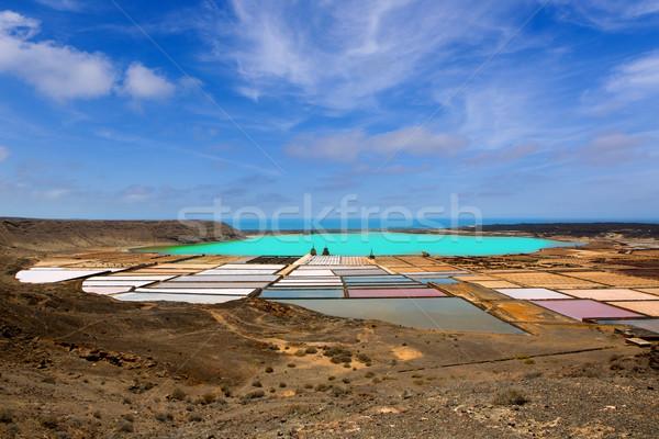 Lanzarote saltworks salinas de Janubio Stock photo © lunamarina