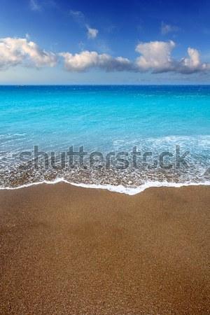 Foto stock: Canárias · marrom · areia · praia · turquesa · água