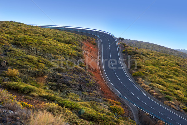 green mountain winding road dangerous curves Stock photo © lunamarina