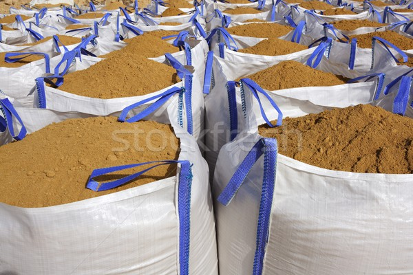 sandbag white big bag sand sacks quarry Stock photo © lunamarina