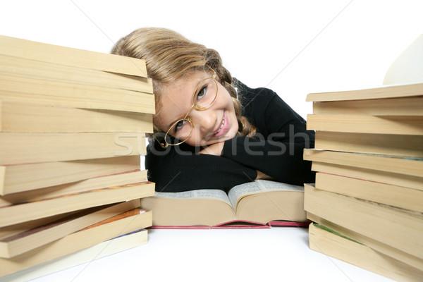 Stok fotoğraf: Küçük · öğrenci · sarışın · kız · gülen