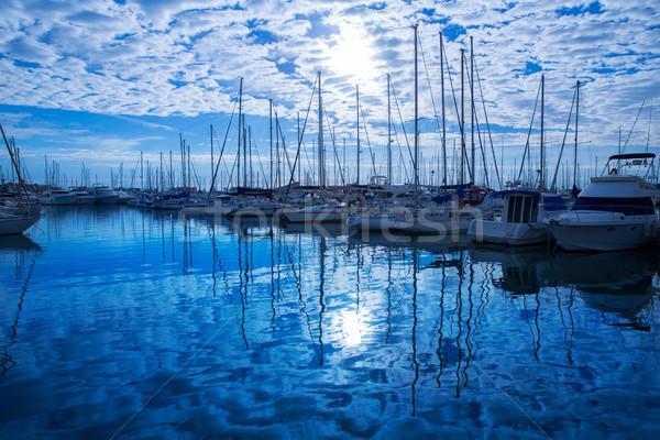 марина порта Средиземное море Испания пляж воды Сток-фото © lunamarina