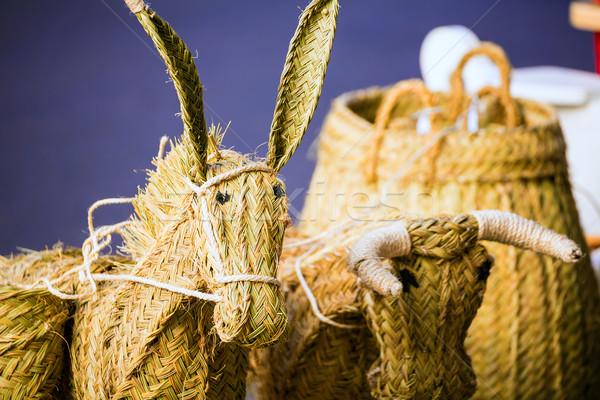 Valencia traditional esparto crafts near Mercado Central Stock photo © lunamarina
