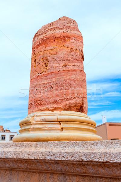 Zdjęcia stock: Kolumny · Roman · amfiteatr · Hiszpania · starożytnych · budynku