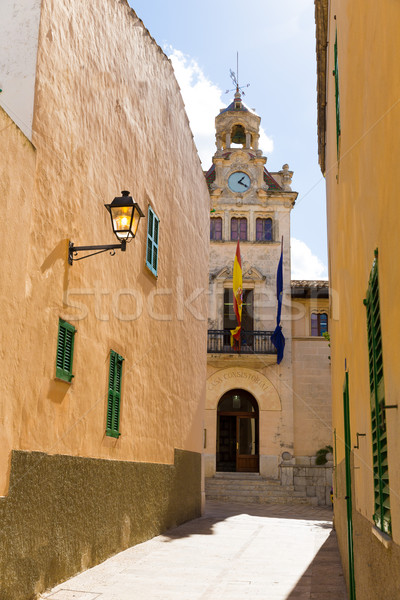 Alcudia Old Town city town hall Majorca Mallorca Stock photo © lunamarina