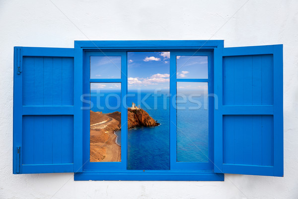 Stock photo: Almeria from window of Cabo de Gata lighthouse