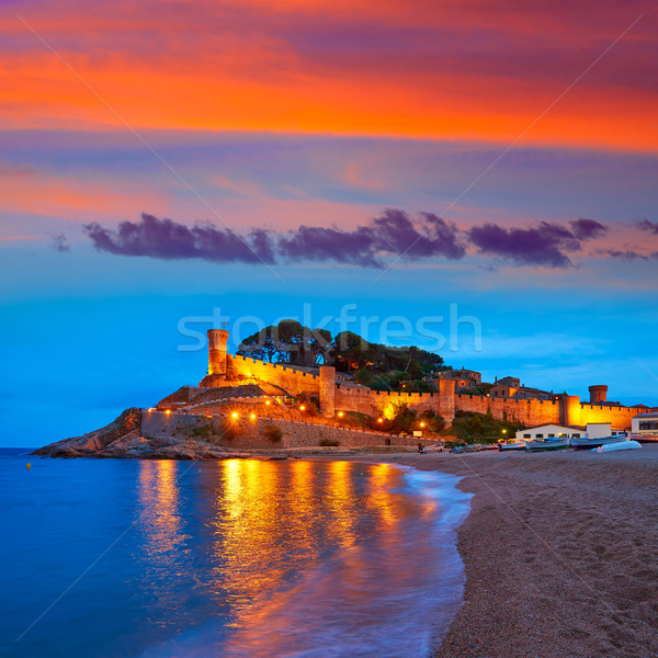 Tossa de Mar sunset in Costa Brava of Catalonia Stock photo © lunamarina