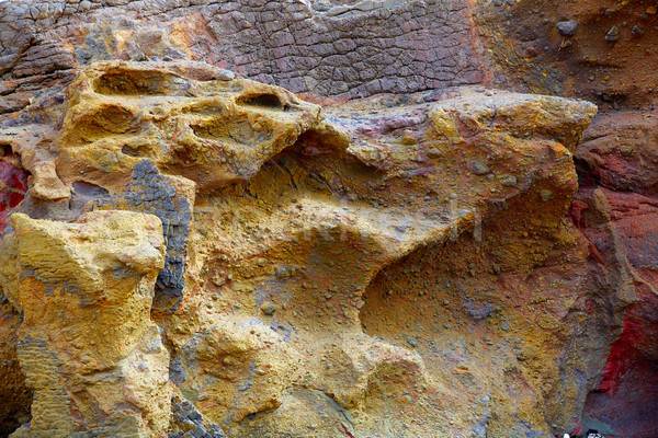 Fuerteventura La Pared stone textures Stock photo © lunamarina
