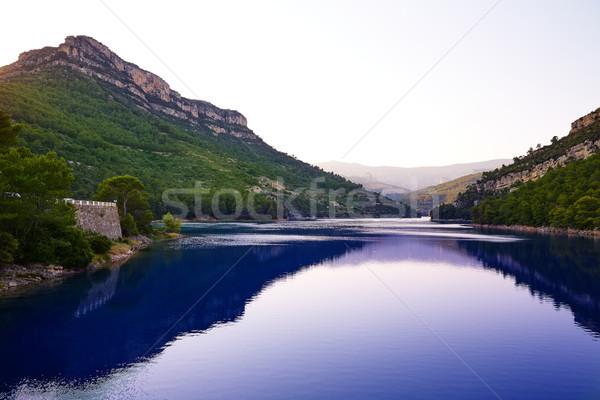 Сток-фото: водохранилище · Испания · закат · горные · синий · путешествия