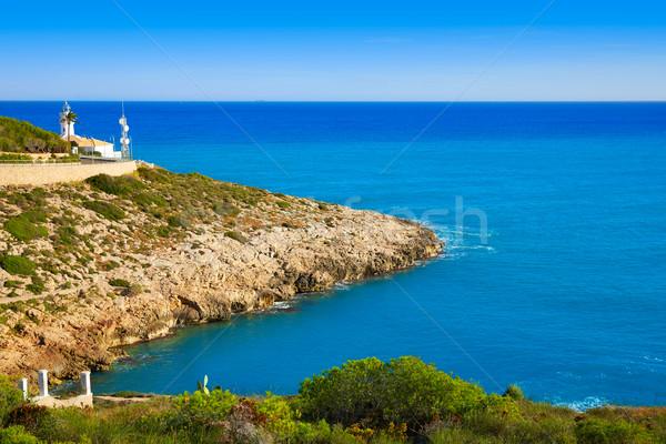 Világítótorony Valencia Spanyolország mediterrán tenger tengerpart Stock fotó © lunamarina