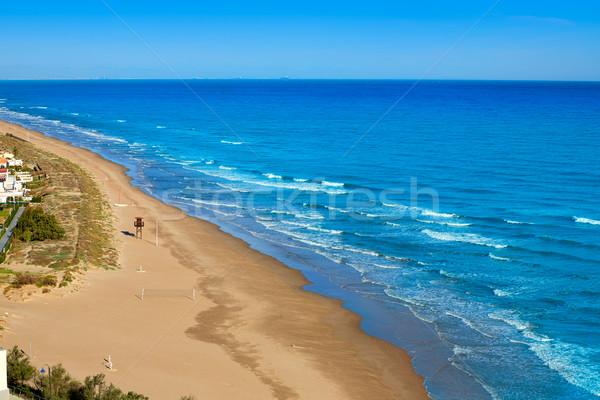 ビーチ 地中海 スペイン 海 バレンシア ストックフォト © lunamarina