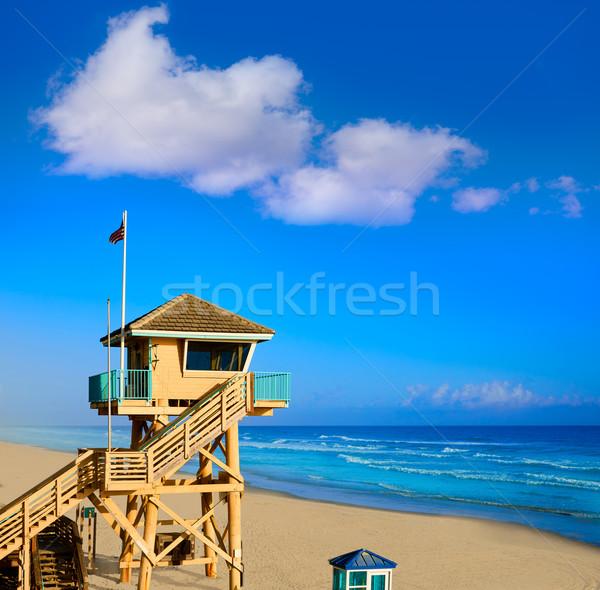 Tengerpart Florida torony USA víz tájkép Stock fotó © lunamarina