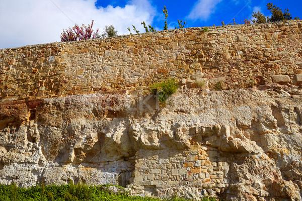Espagne maçonnerie détail la façon ville Photo stock © lunamarina