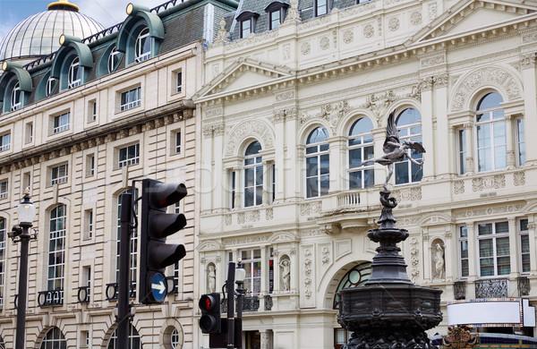 ロンドン サーカス 建物 通り 都市 レトロな ストックフォト © lunamarina