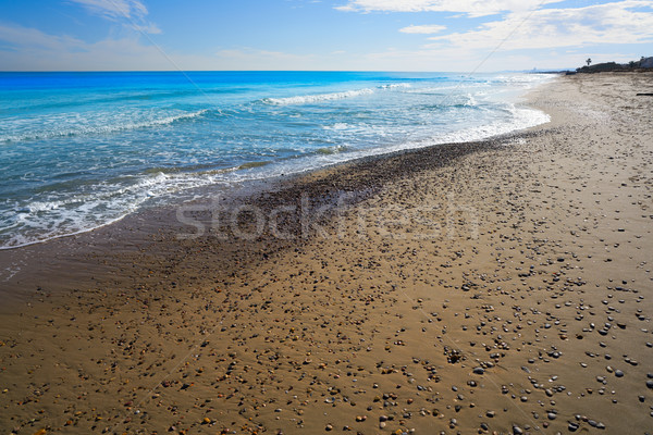 Praia Valência mediterrânico Espanha la mar Foto stock © lunamarina