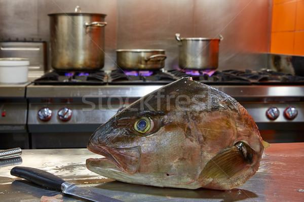Balık fileto süreç kafa mutfak Stok fotoğraf © lunamarina