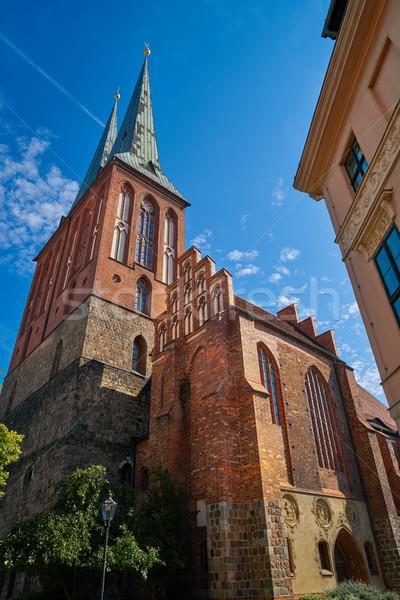 ベルリン 教会 ドイツ ゴシック 建物 青 ストックフォト © lunamarina