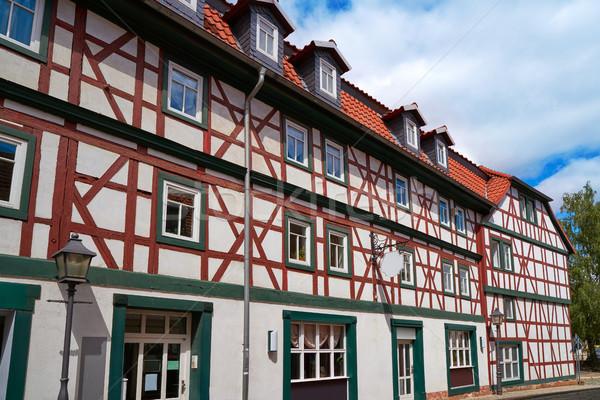 Centro da cidade Alemanha primavera cidade montanha verão Foto stock © lunamarina