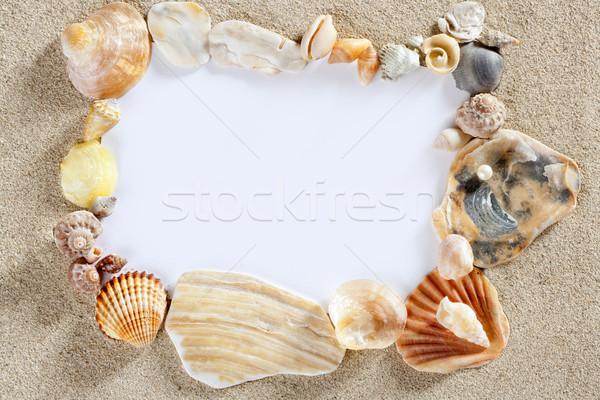 Granicy ramki lata plaży powłoki kopia przestrzeń Zdjęcia stock © lunamarina