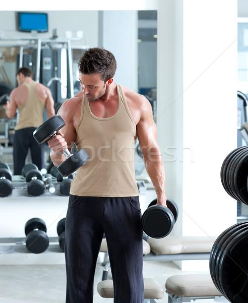 Hombre deporte gimnasio club Foto stock © lunamarina