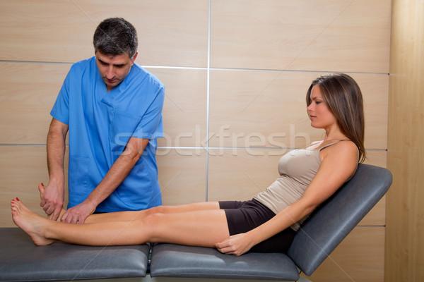 Boka terápia orvos férfi beteg nő Stock fotó © lunamarina