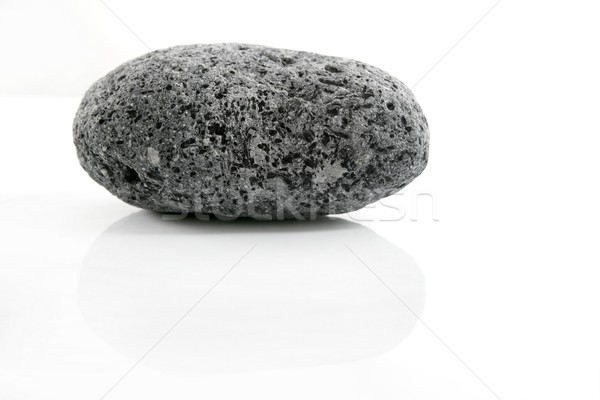Vulkáni feketefehér mintázott kő fehér textúra Stock fotó © lunamarina