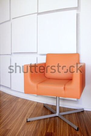Modern office lobby with orange chair Stock photo © lunamarina