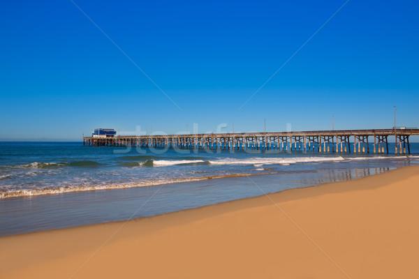 Pier spiaggia California USA surf spot Foto d'archivio © lunamarina