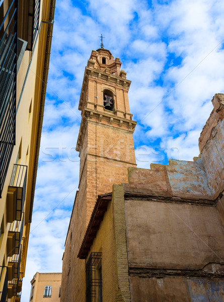 Valencia San Esteban Protomartir church belfry Spain Stock photo © lunamarina
