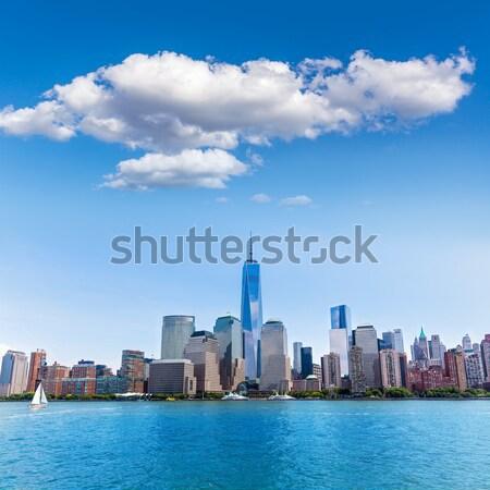 Manhattan New York skyline from Hudson River Stock photo © lunamarina