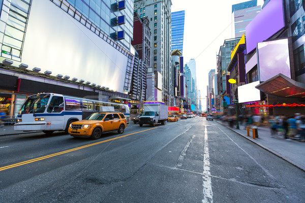 Times Square Manhattan New York reklámok összes autó Stock fotó © lunamarina