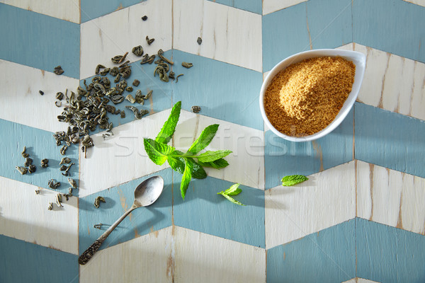 green tea ingredients Moroccan style Stock photo © lunamarina