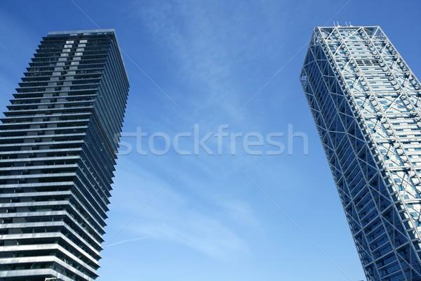 Barcelona Olimpic Villa buildings skyscrapers Stock photo © lunamarina