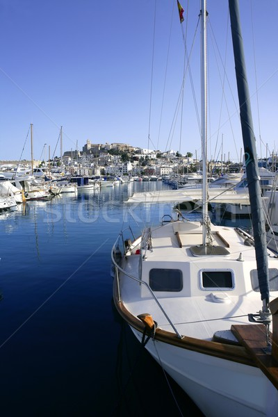 Ibiza island harbor in Mediterranean sea Stock photo © lunamarina