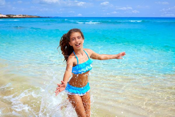 Zdjęcia stock: Dziewczyna · plaży · Hiszpania · niebo · wody