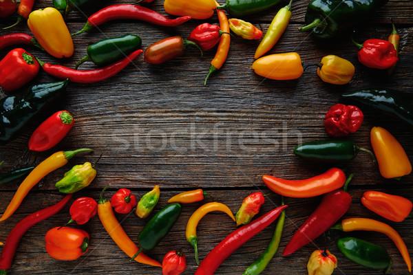 мексиканских горячей красочный Серрано Сток-фото © lunamarina