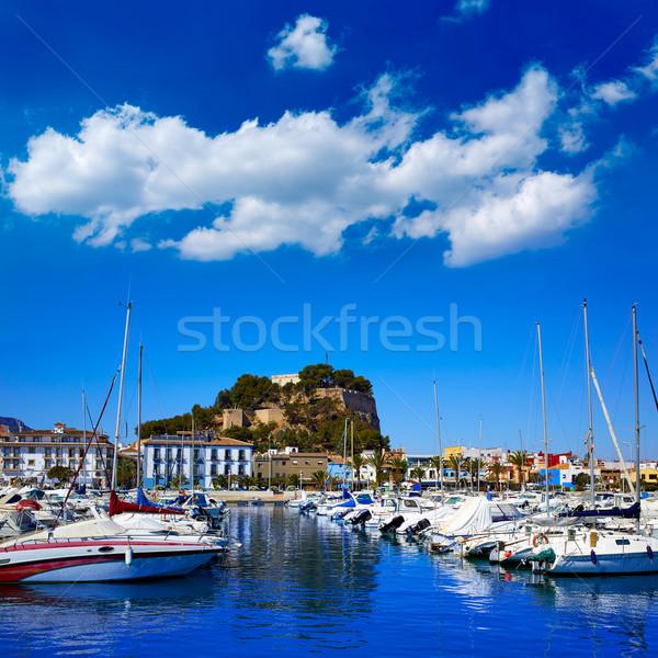 Marina liman kale İspanya akdeniz deniz Stok fotoğraf © lunamarina